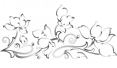 Floral design element-Floral border