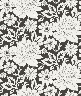 Seamless floral background for curtain-cloths