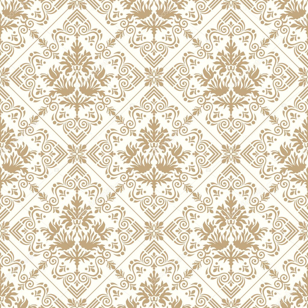Seamless Royal Golden Wallpaper Stock Vector
