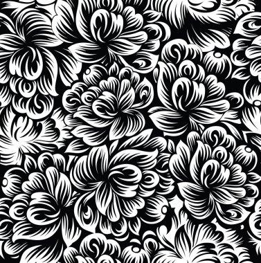 Seamless flowers background-wallpaper