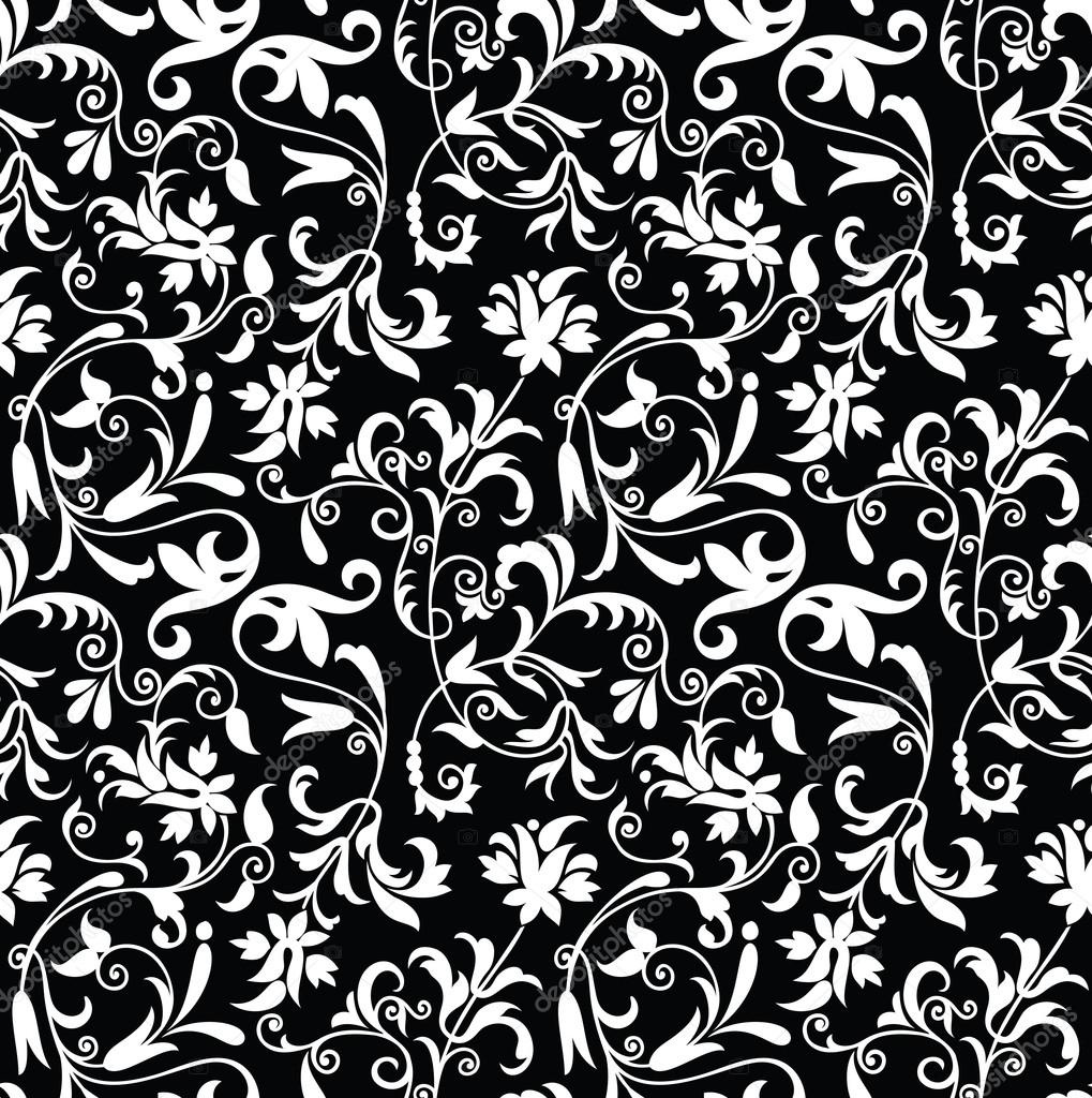 Seamless Fancy Floral Background Pattern Stock Vector Malkani