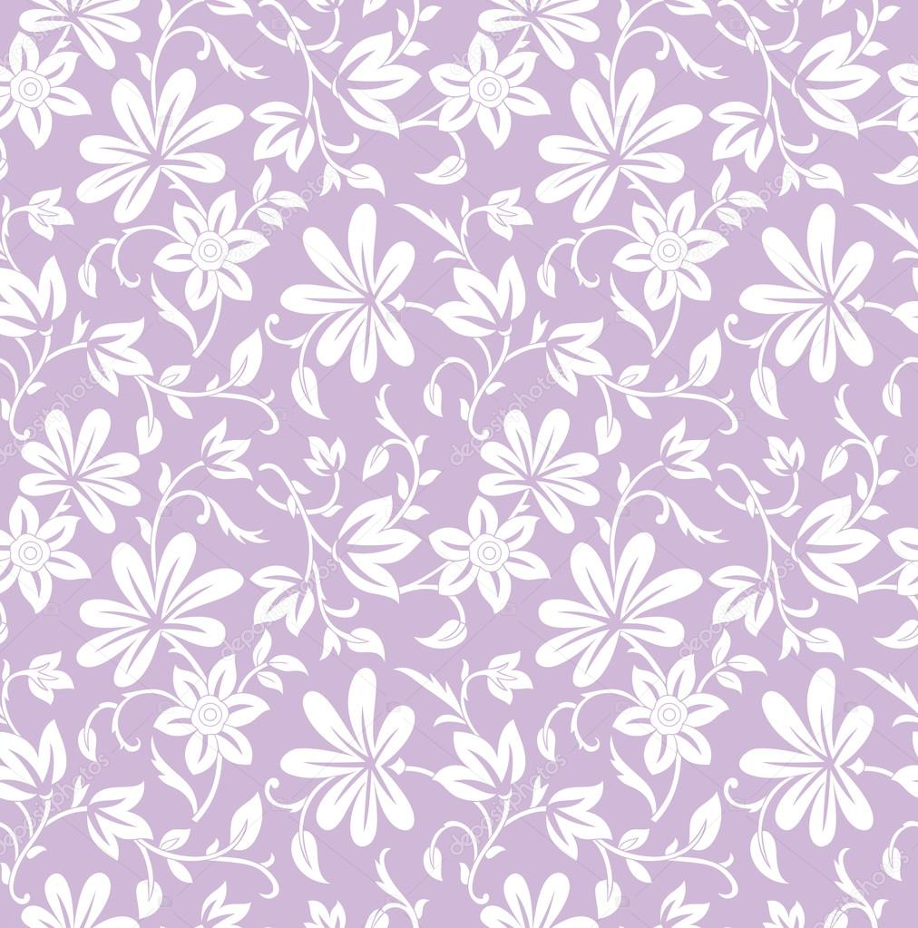 White bed sheet texture seamless - Seamless Purple Floral Background Stock Vector 22558569