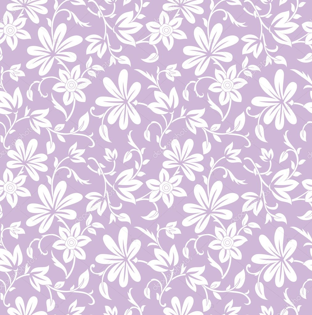 Bed sheets texture seamless - Seamless Purple Floral Background Stock Vector 22558569