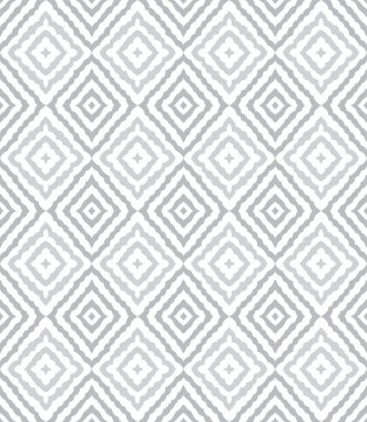 Seamless curly silver vector wallpaper-pattern stock vector