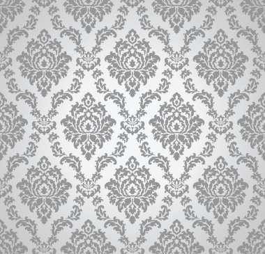 Seamless damask vector wallpaper and pattern stock vector