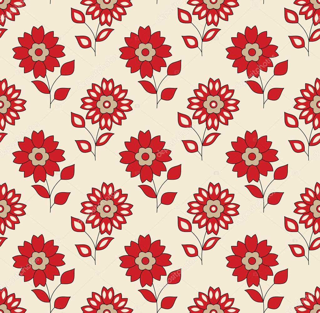 Bed sheet texture seamless - Seamless Floral Background For Textile Design Stock Vector 26398495
