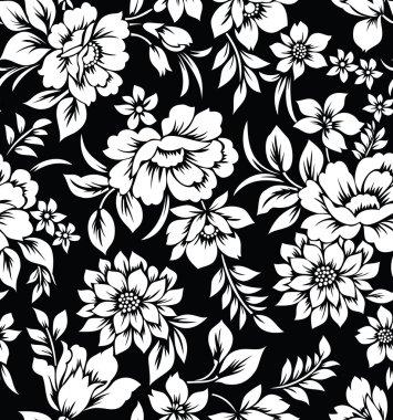 Decorative seamless floral wallpaper