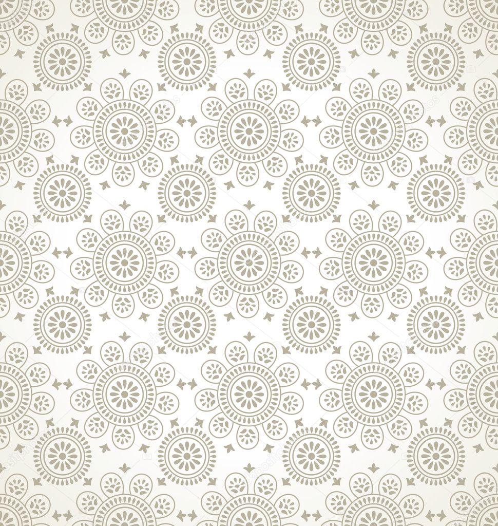 Traditional Seamless Floral Wallpaper Stock Vector C Malkani