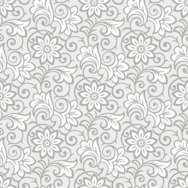 Luxurious seamless floral wallpaper
