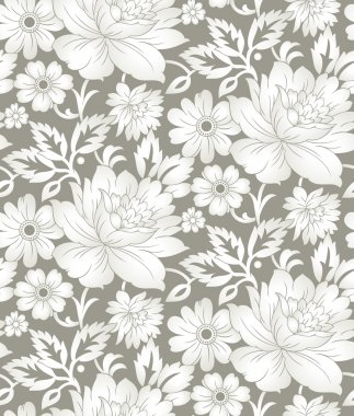 Seamless floral background for textile design