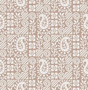 Paisley seamless fancy background