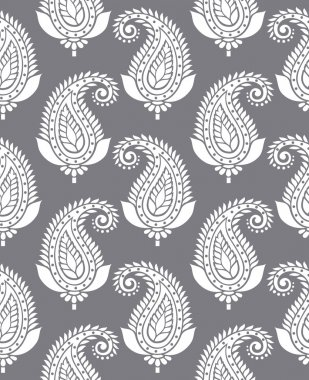 Seamless paisley for textile design