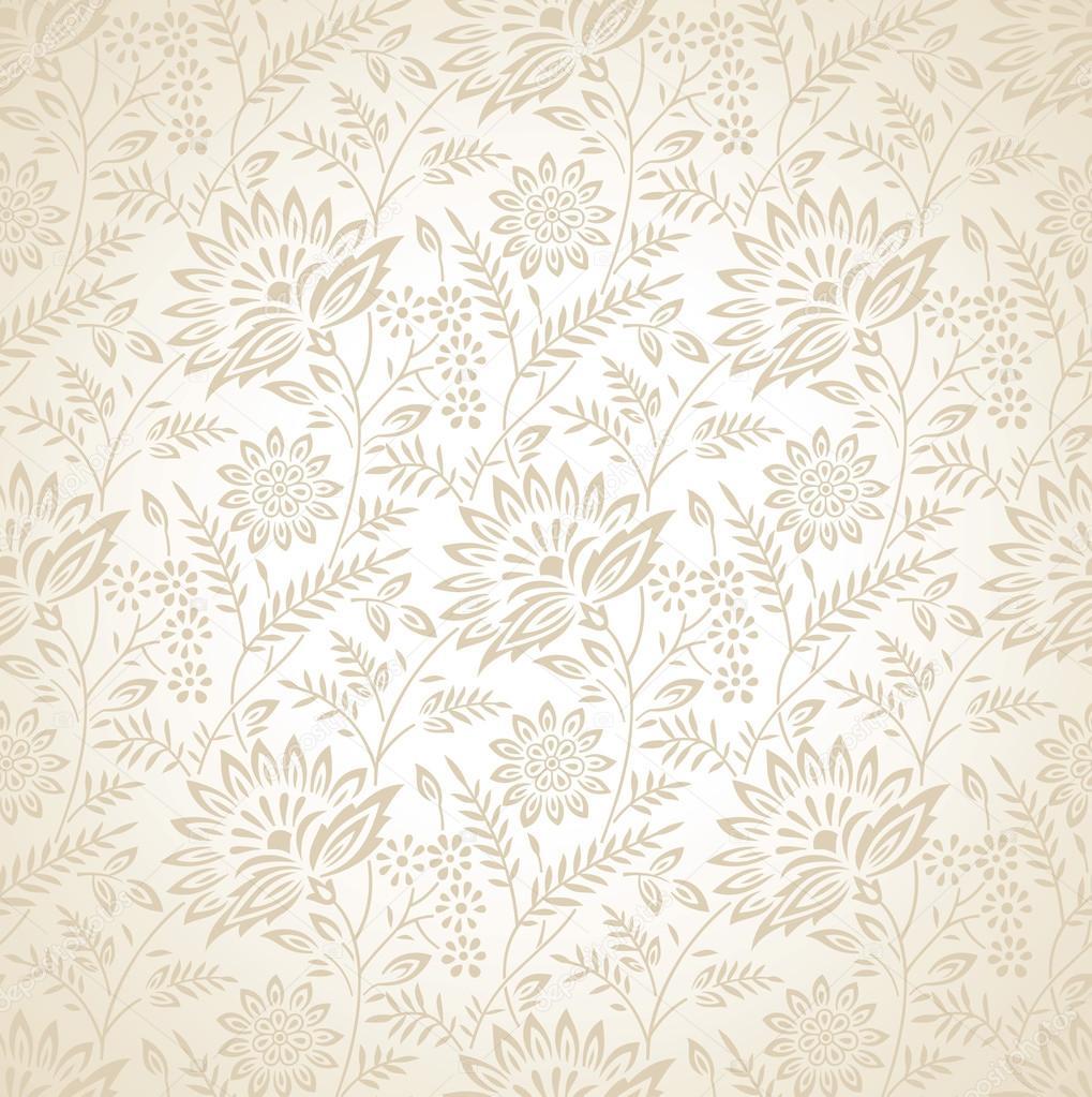 Seamless Floral Vector Wallpaper Stock Vector C Malkani 43755689