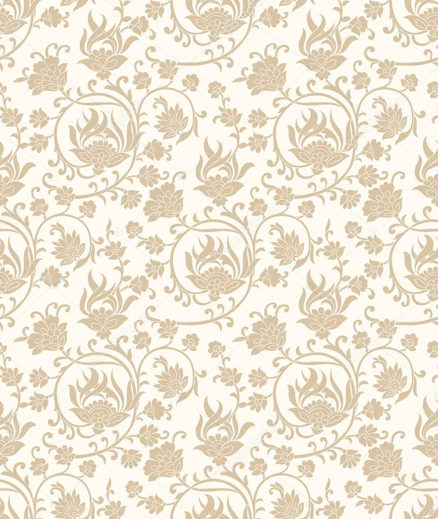 Fancy Seamless Vector Floral Wallpaper Stock Vector C Malkani