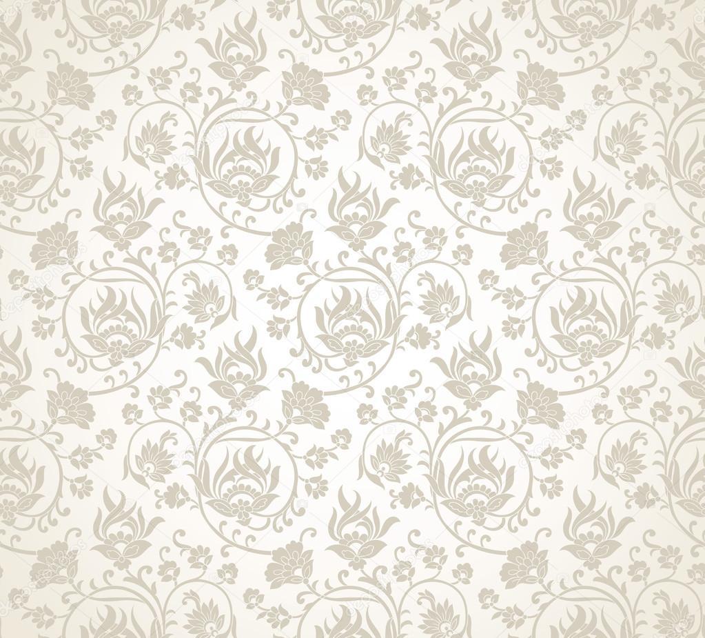 Damask Fancy Floral Wallpaper Stock Vector C Malkani 45630687