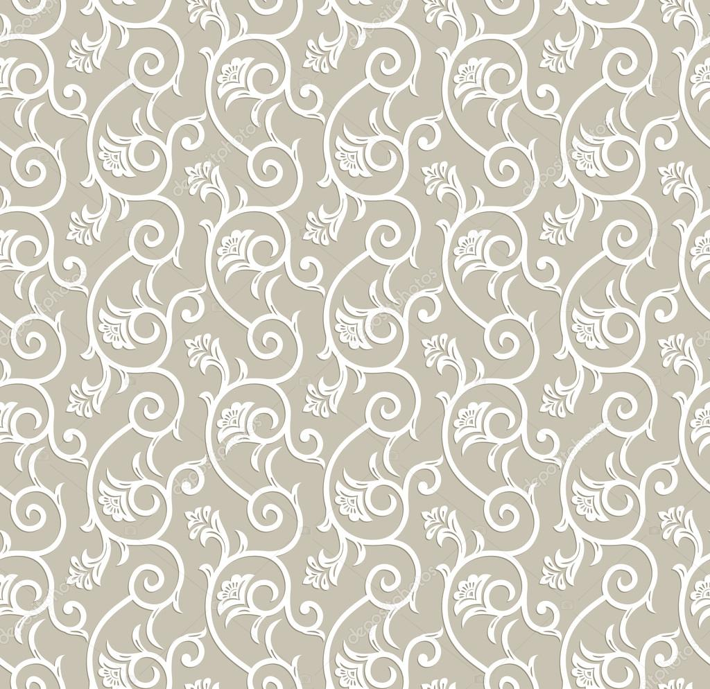 Seamless Traditional Floral Wallpaper Stock Vector C Malkani