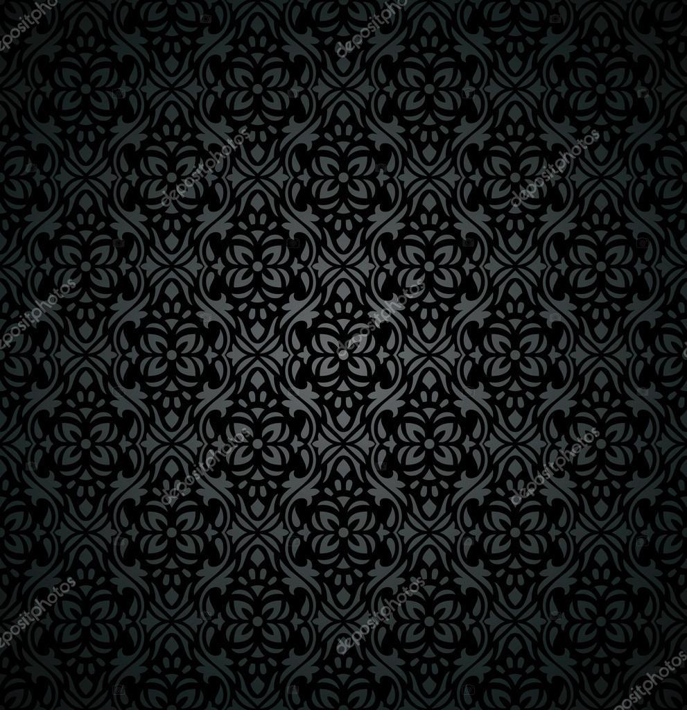 Damask Royal Dark Floral Wallpaper Stock Vector C Malkani 46699733
