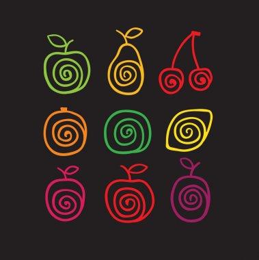 Swirly fruits