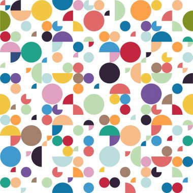 Seamless retro abstract geometric pattern. Vector illustration