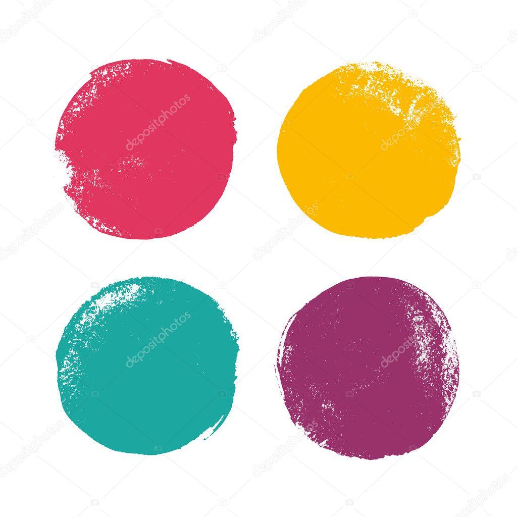 Beautiful color grunge design elements. Vector illustration