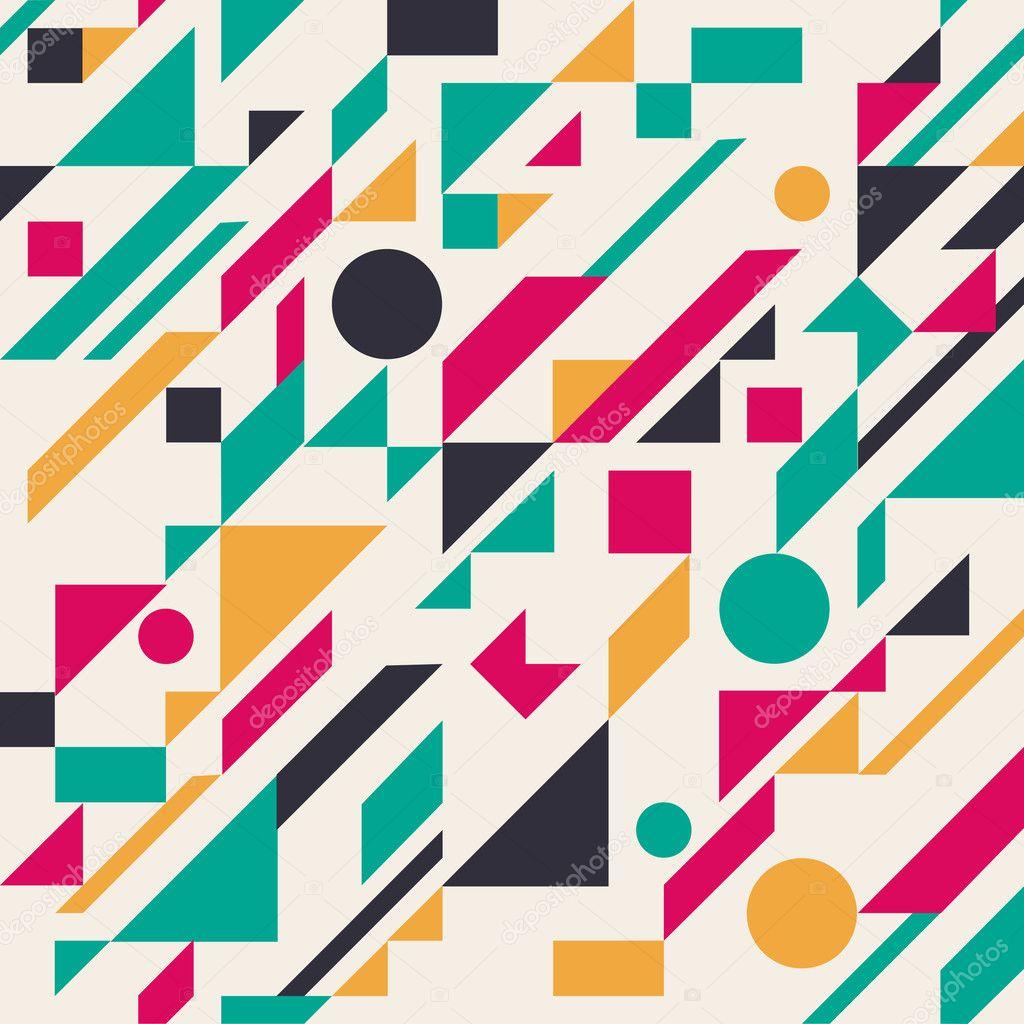Seamless retro abstract geometric pattern. Vector illustration