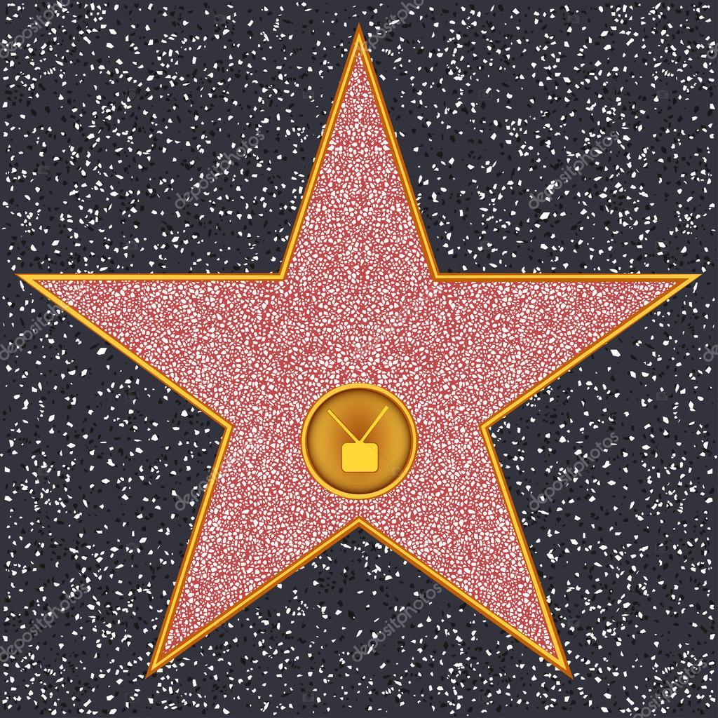 star television receiver hollywood walk of fame stock