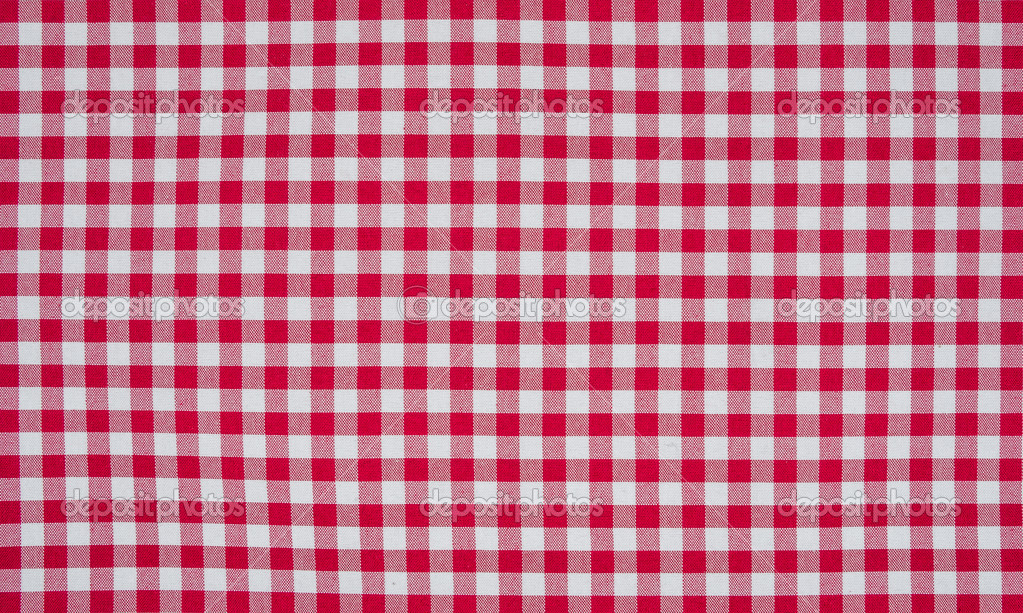 Superieur Red And White Checkered Tablecloth U2014 Stock Photo