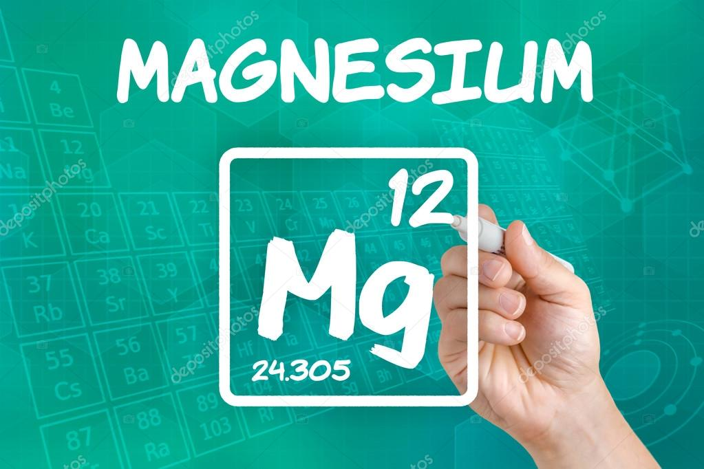 Symbol For The Chemical Element Magnesium Stock Photo Zerbor