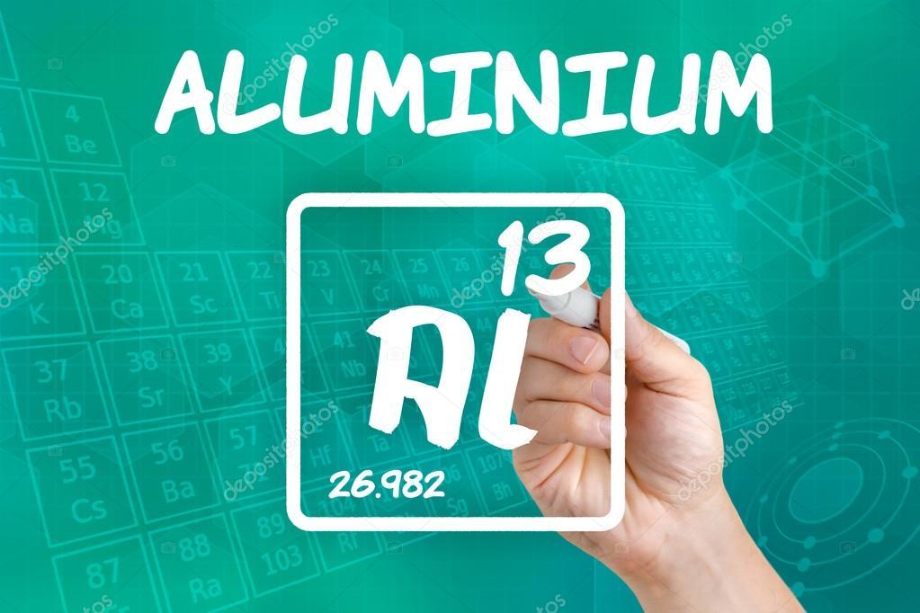 S mbolo para el aluminio elemento qu mico foto de stock - Simbolo de aluminio ...