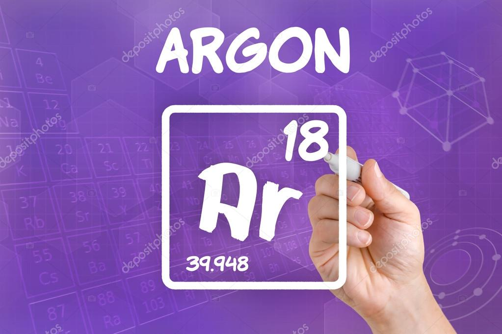 Symbol For The Chemical Element Argon Stock Photo Zerbor 30593669
