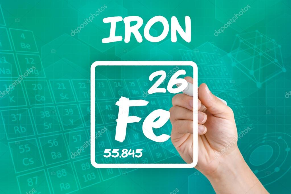 Symbol For The Chemical Element Iron Stock Photo Zerbor 30594561