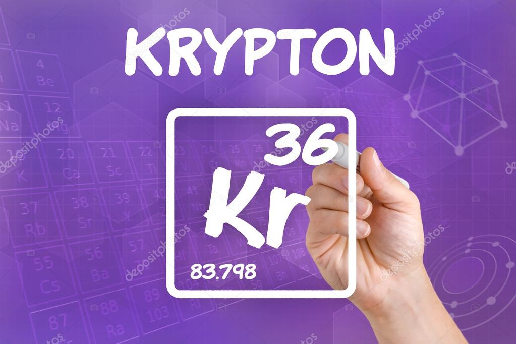 Symbol For The Chemical Element Krypton Stock Photo Zerbor 30596167