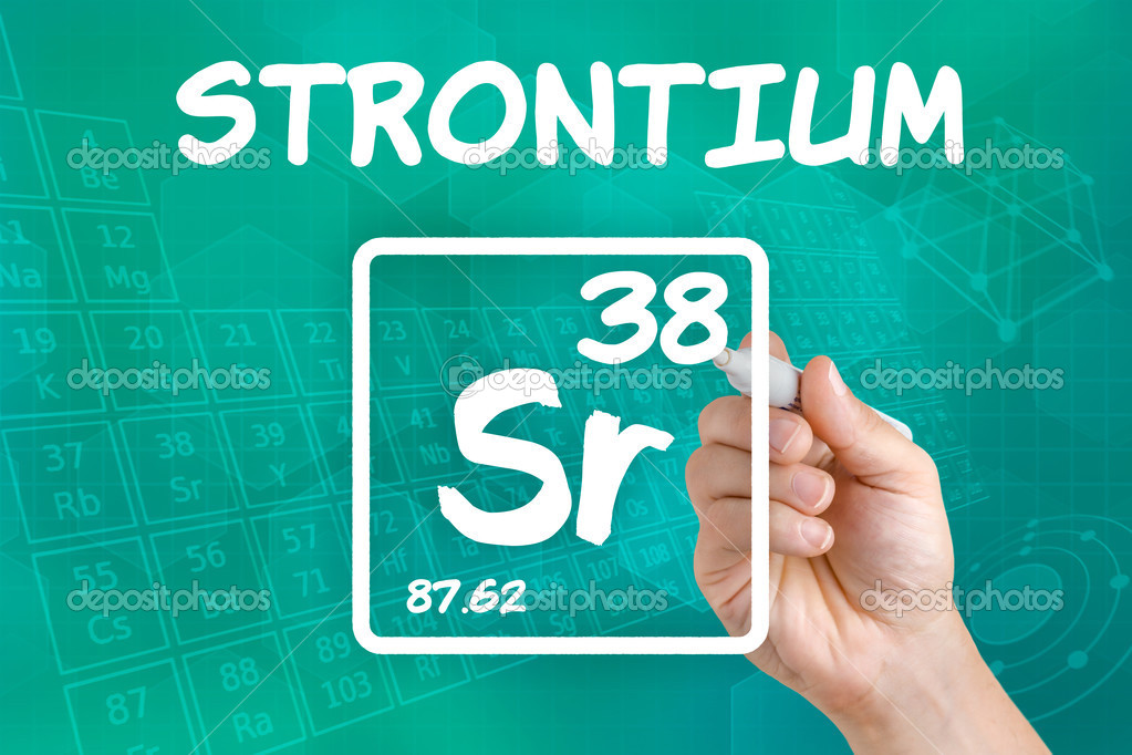 Symbol For The Chemical Element Strontium Stock Photo Zerbor