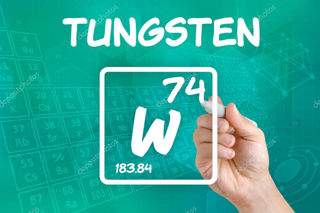 Symbol For The Chemical Element Tungsten Stock Photo Zerbor