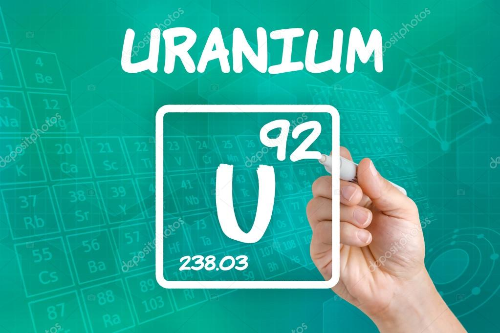 Symbol For The Chemical Element Uranium Stock Photo Zerbor 30600543