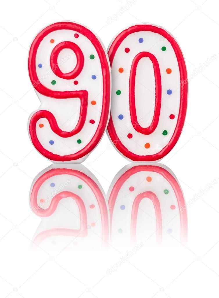 Rode Nummer 90 Met Reflectie Stockfoto Zerbor 40468711