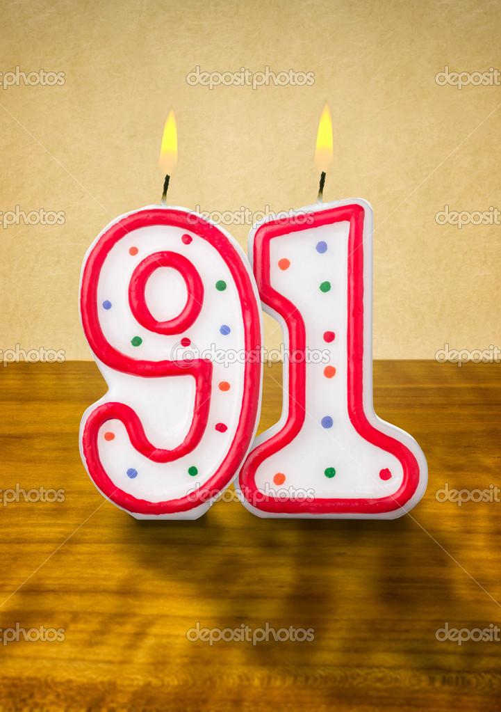 Открытка с днем рождения 91 год