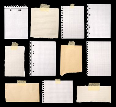 Pieces of paper ready for making notes