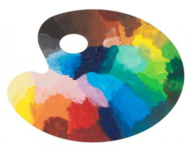 Colorful palette isolated on white background stock vector