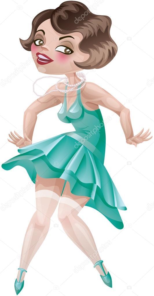 Девочка в платье мультик