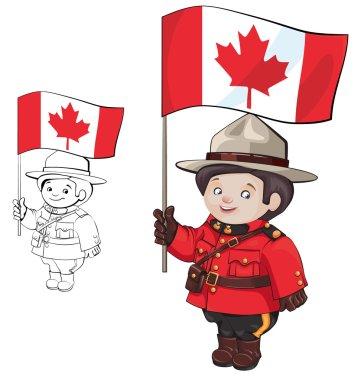 cute cartoon canadian Mounties
