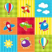patchwork s leteckou dopravou