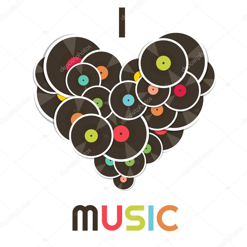I love music — Stock Vector © Ann_Precious #13471705