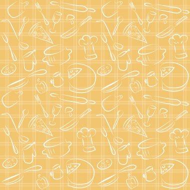 Seamless kitchen orange pattern