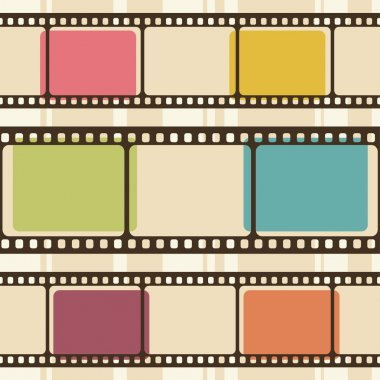 Retro background with film strips