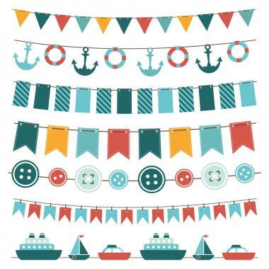 Sea theme garland