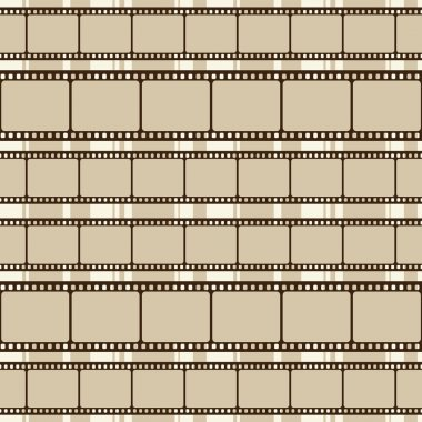 Brown retro background with film strips