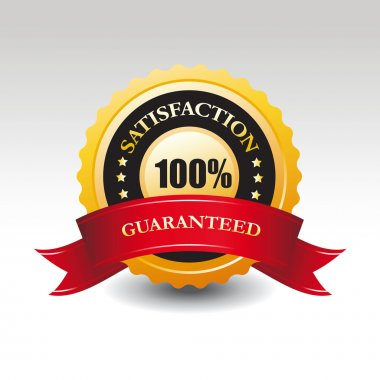 Vector satisfaction guaranteed label or sign