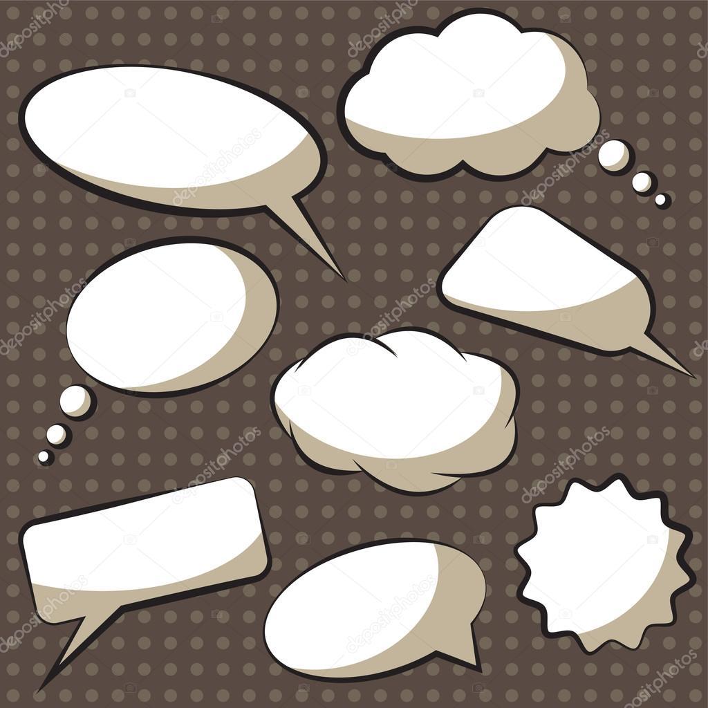 Vector comics speech bubbles