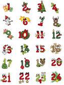 Fotografie Weihnachten Zahlen